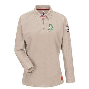 Bulwark iQ Series® Women's Long Sleeve Polo ( Stone)