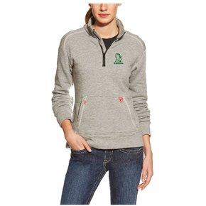 Ariat Ladies Fr Polartec 1/4 Zip Fleece (Grey)