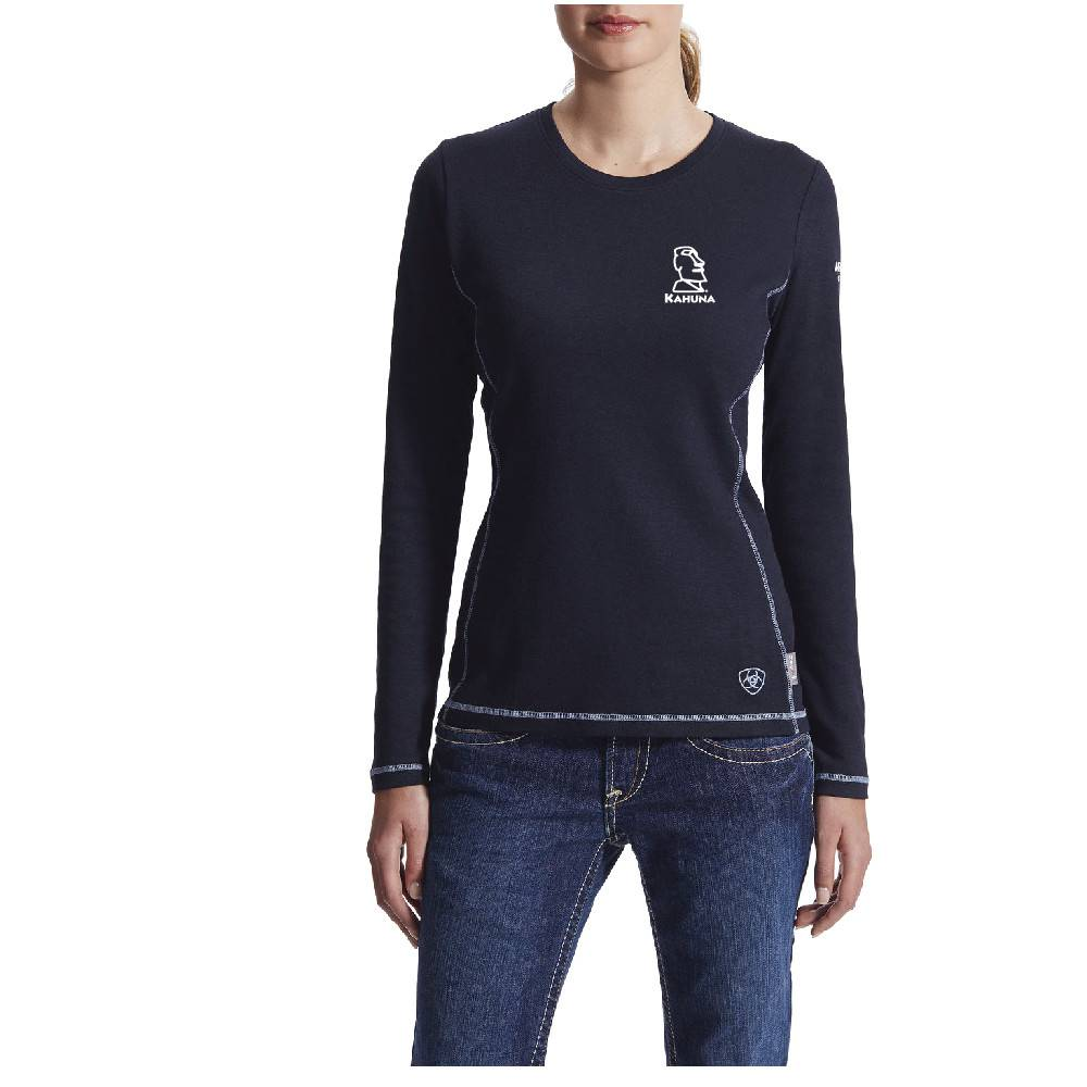 Ariat Ariat Ladies Fr Polartec Powerdry Top (Navy)