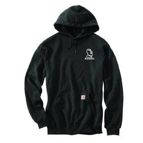 Carhartt Carhartt Midweight Hooded Pullover Sweatshirt (Black w/white logo)
