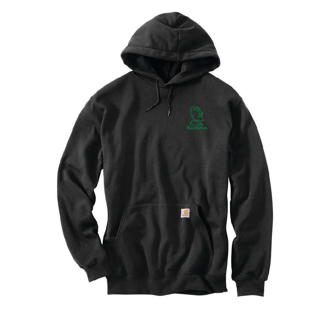 Carhartt Carhartt Midweight Hooded Pullover Sweatshirt (Black w/green logo)