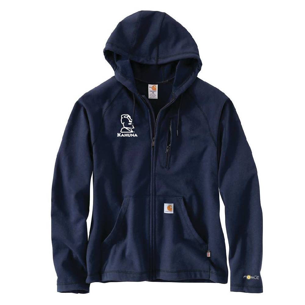 Carhartt Carhartt FR Force Rugged Hooded Full-Zip Fleece (Dark Navy)