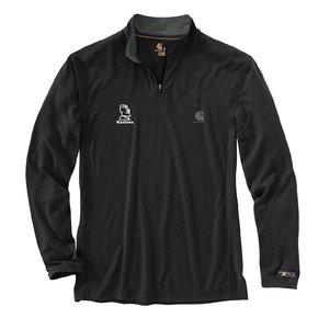 Carhartt Force Extreme 1/4 Zip Long -Sleeve Shirt (Black w/white logo)