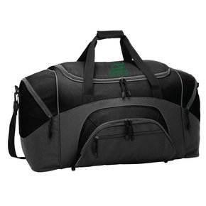 Port Authority Port Authority® - Standard Colorblock Sport Duffel ( Black/Dark Charcoal )