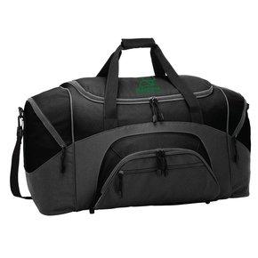 Port Authority® - Standard Colorblock Sport Duffel ( Black/Dark Charcoal )