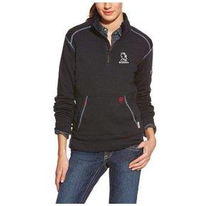 Ariat Ladies Fr Polartec 1/4 Zip Fleece ( Navy)