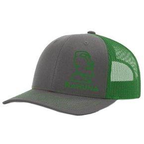 Richardson Twill Mesh Snapback Hat  ( Charcoal/Kelly Green)