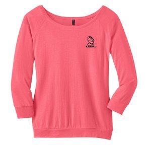 District Made® - Ladies Modal Blend 3/4-Sleeve Raglan ( Coral)