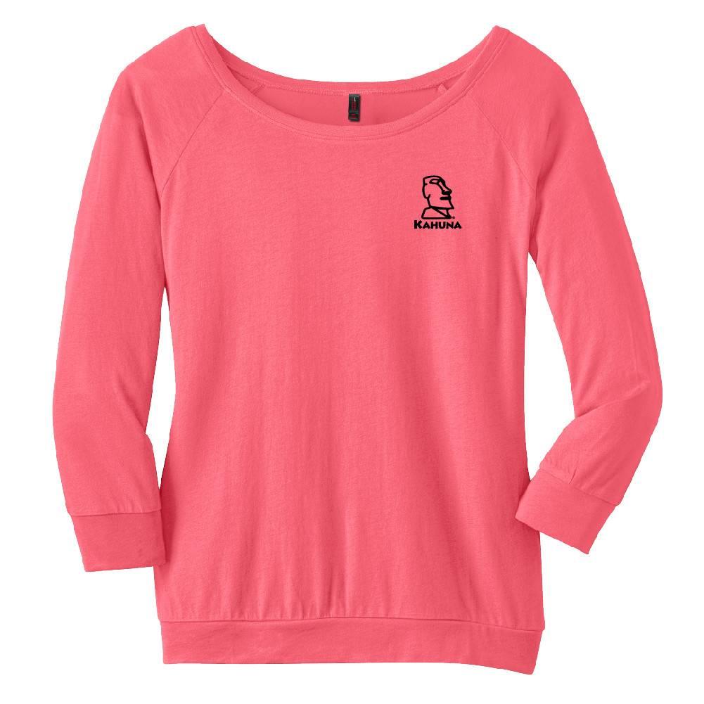 District Made District Made® - Ladies Modal Blend 3/4-Sleeve Raglan ( Coral)