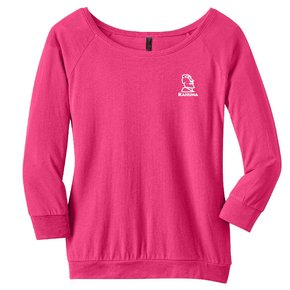 District Made District Made® - Ladies Modal Blend 3/4-Sleeve Raglan ( Dark Fuchsia)