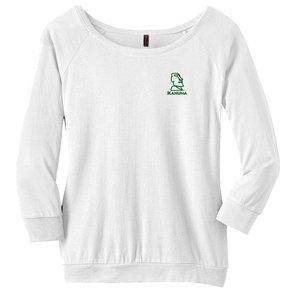 District Made® - Ladies Modal Blend 3/4-Sleeve Raglan ( White)