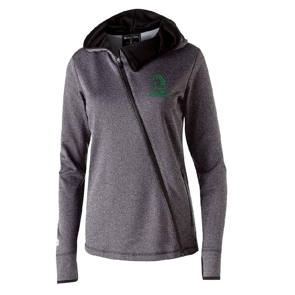 Holloway Holloway Ladies Artillery Angled Jacket (Grey w/green logo)