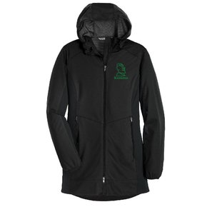 Port Authority® Ladies Active Hooded Soft Shell Jacket ( Deep Black)