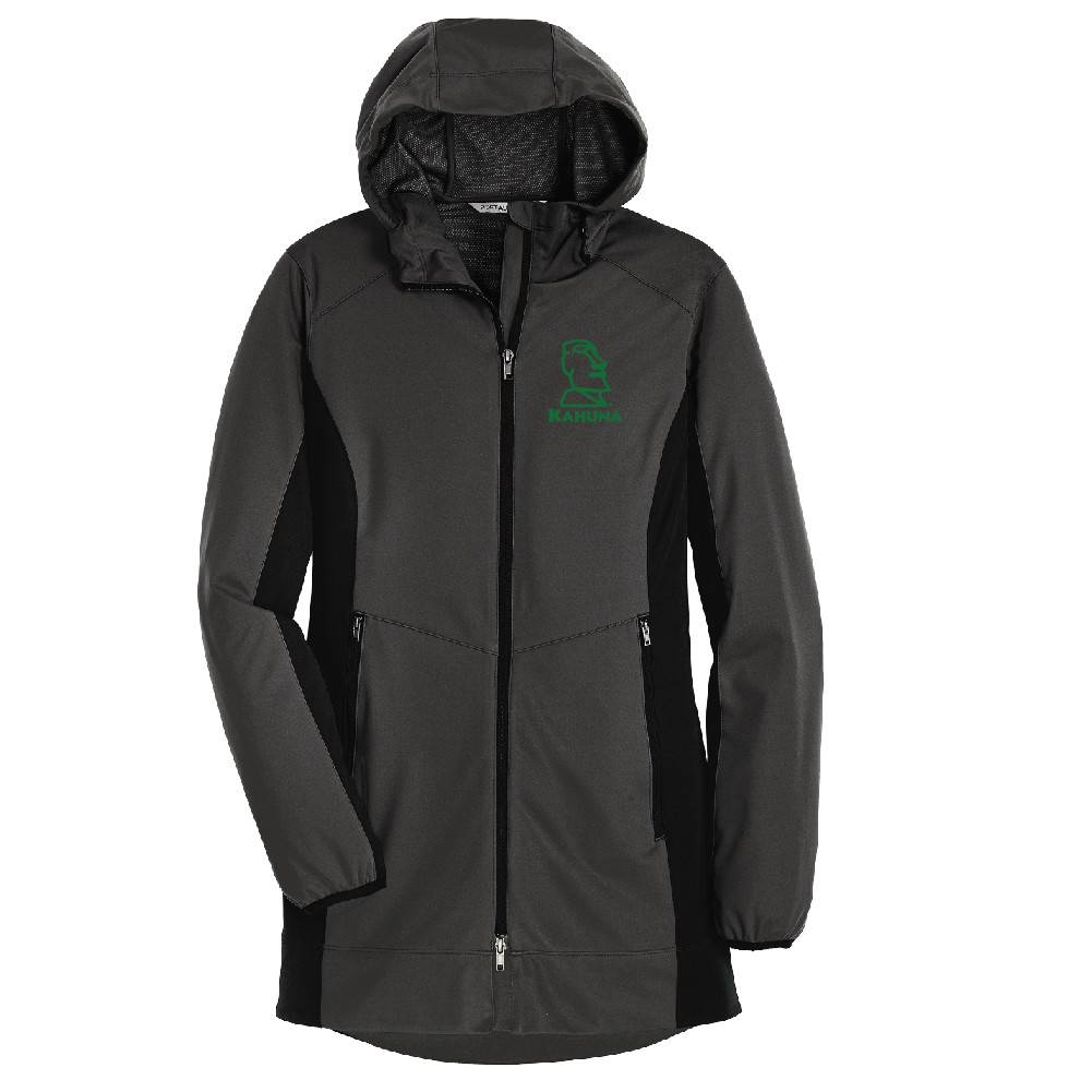 Port Authority Port Authority® Ladies Active Hooded Soft Shell Jacket ( Steel Grey/Deep Black)