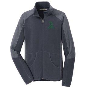 Port Authority® Ladies Colorblock Microfleece Jacket ( Battleship Grey)
