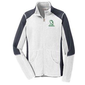 Port Authority® Ladies Colorblock Microfleece Jacket ( White)