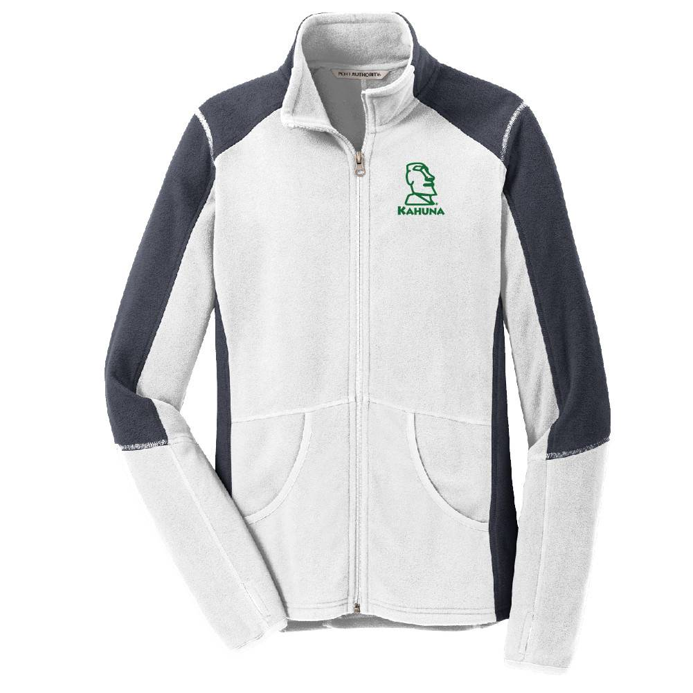 Port Authority Port Authority® Ladies Colorblock Microfleece Jacket ( White)