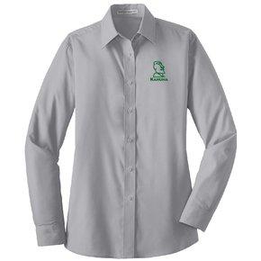 Port Authority Port Authority® Ladies Long Sleeve Value Poplin Shirt ( Grey)