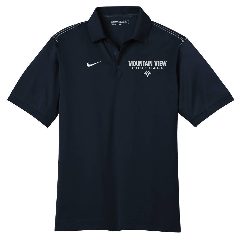 Nike Nike Golf Dri-Fit Sport Swoosh Pique Polo (Black)