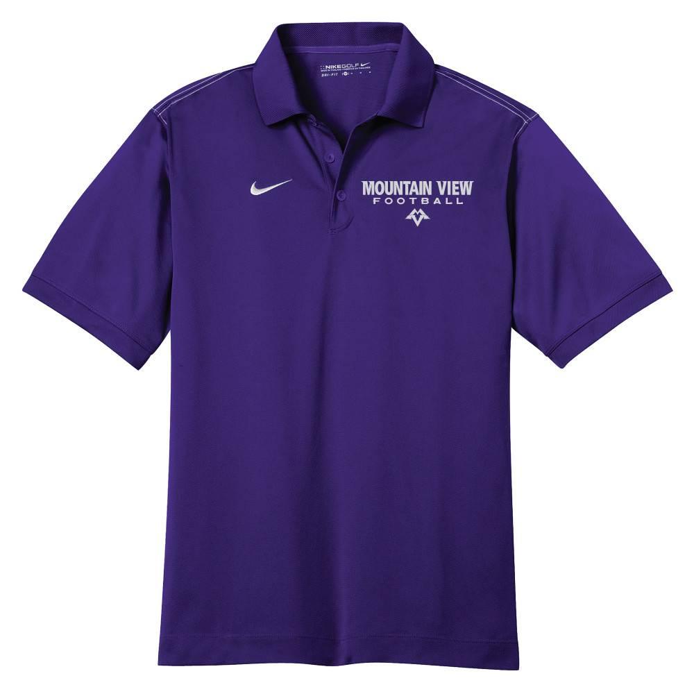Nike Nike Golf Dri-Fit Sport Swoosh Pique Polo (Purple)
