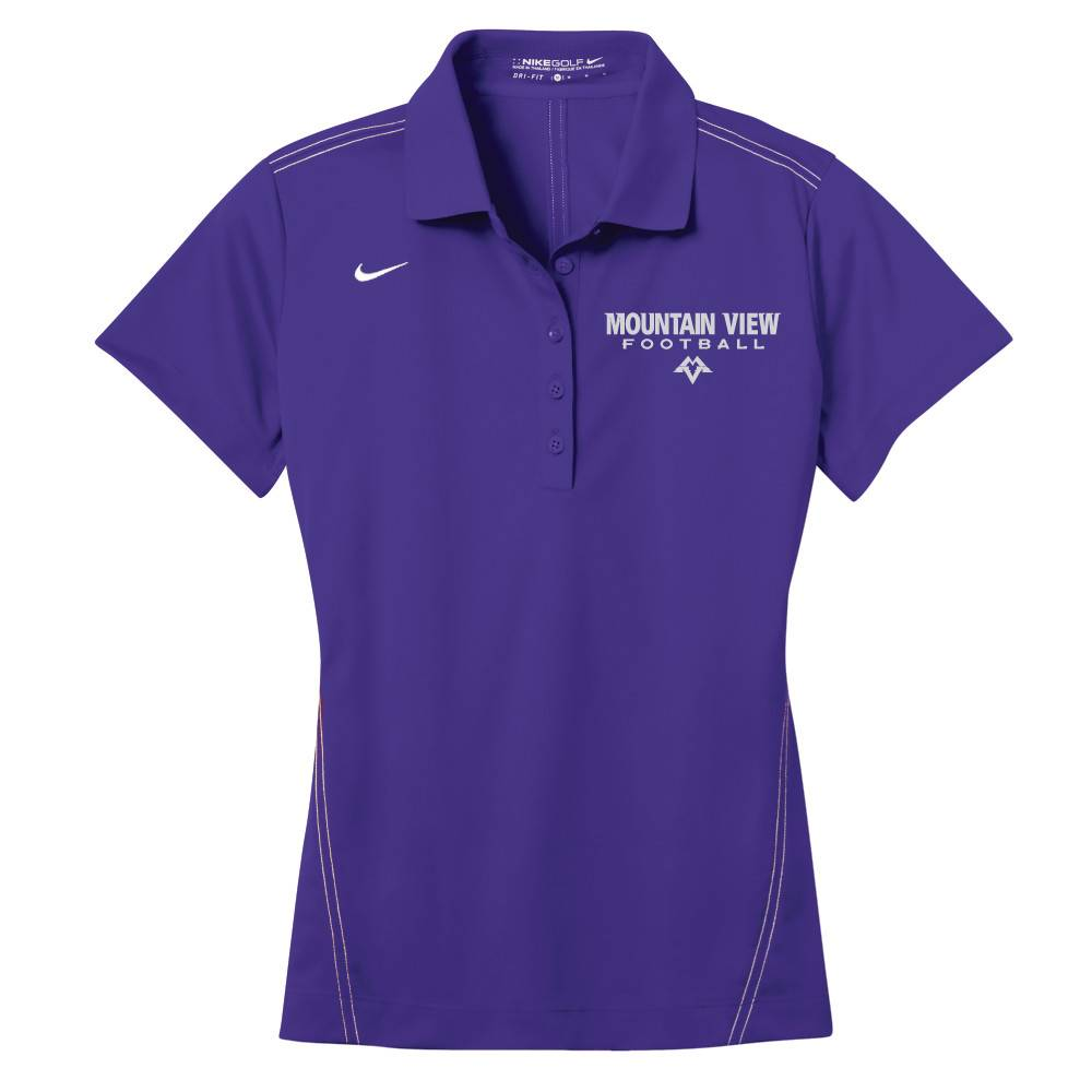 Nike Nike Golf Ladies Dri-Fit Sport Swoosh Pique Polo (Purple)