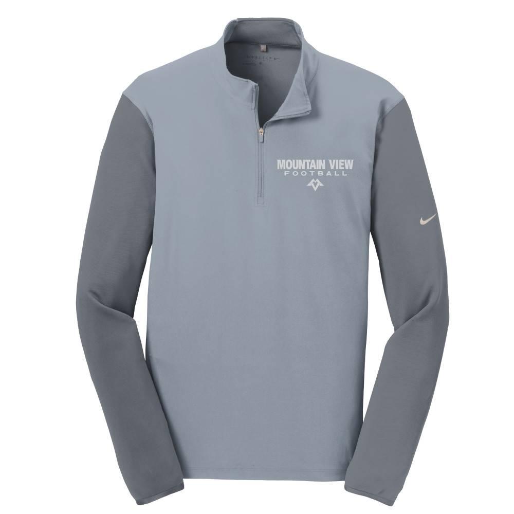 Nike Nike Golf Dri-Fit Fabric Mix 1/2 Zip Cover Up (Cool Grey/Dark Grey)