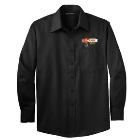 Port Authority Port Authority Non-Iron Twill Shirt (Black)