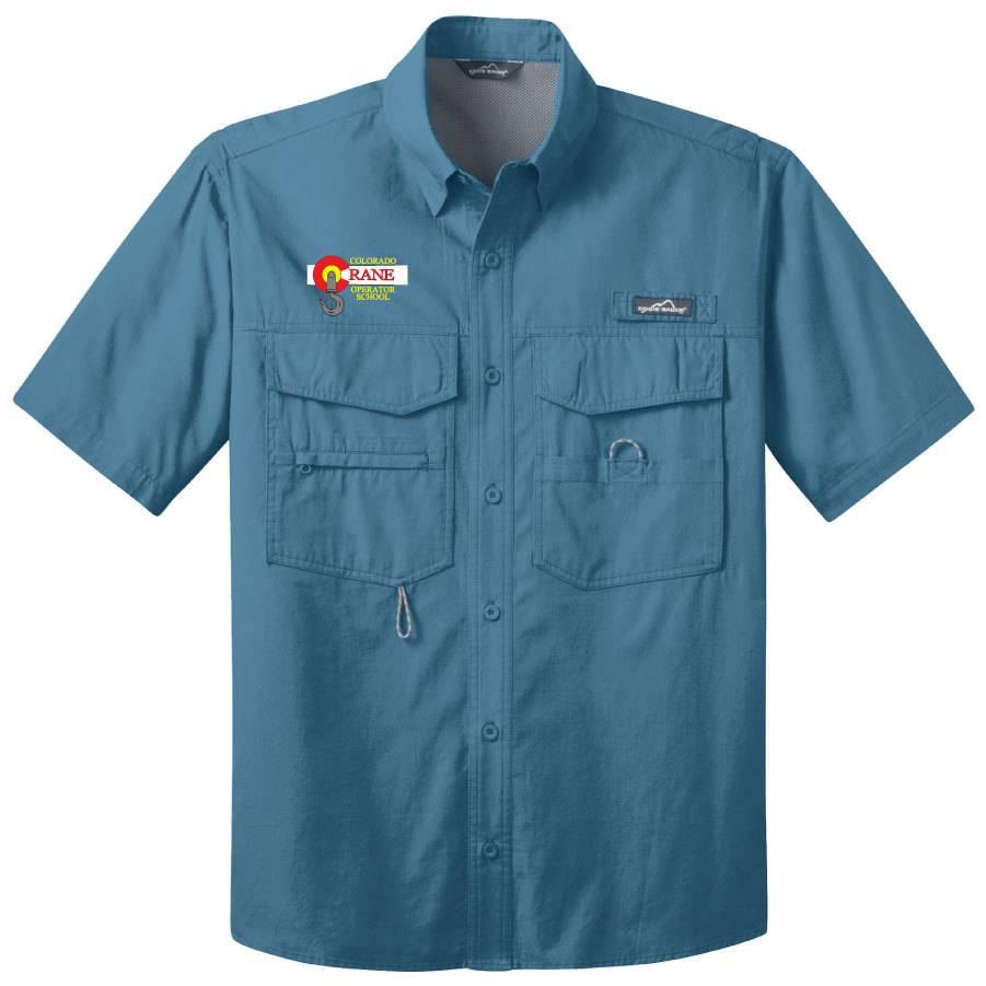 Eddie Bauer Eddie Bauer® - Short Sleeve Fishing Shirt ( Blue Gill)