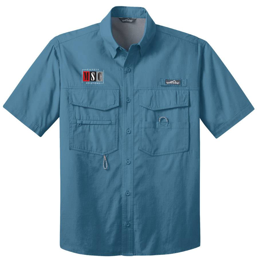 Eddie Bauer Eddie Bauer® - Short Sleeve Fishing Shirt ( Blue Gill)