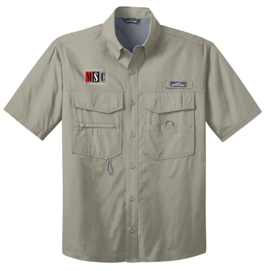 Eddie Bauer Eddie Bauer® - Short Sleeve Fishing Shirt (Driftwood)