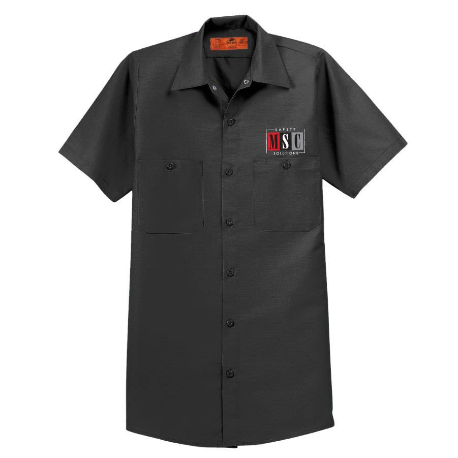 Red Cap Red Kap® - Short Sleeve Work Shirt (Charcoal)
