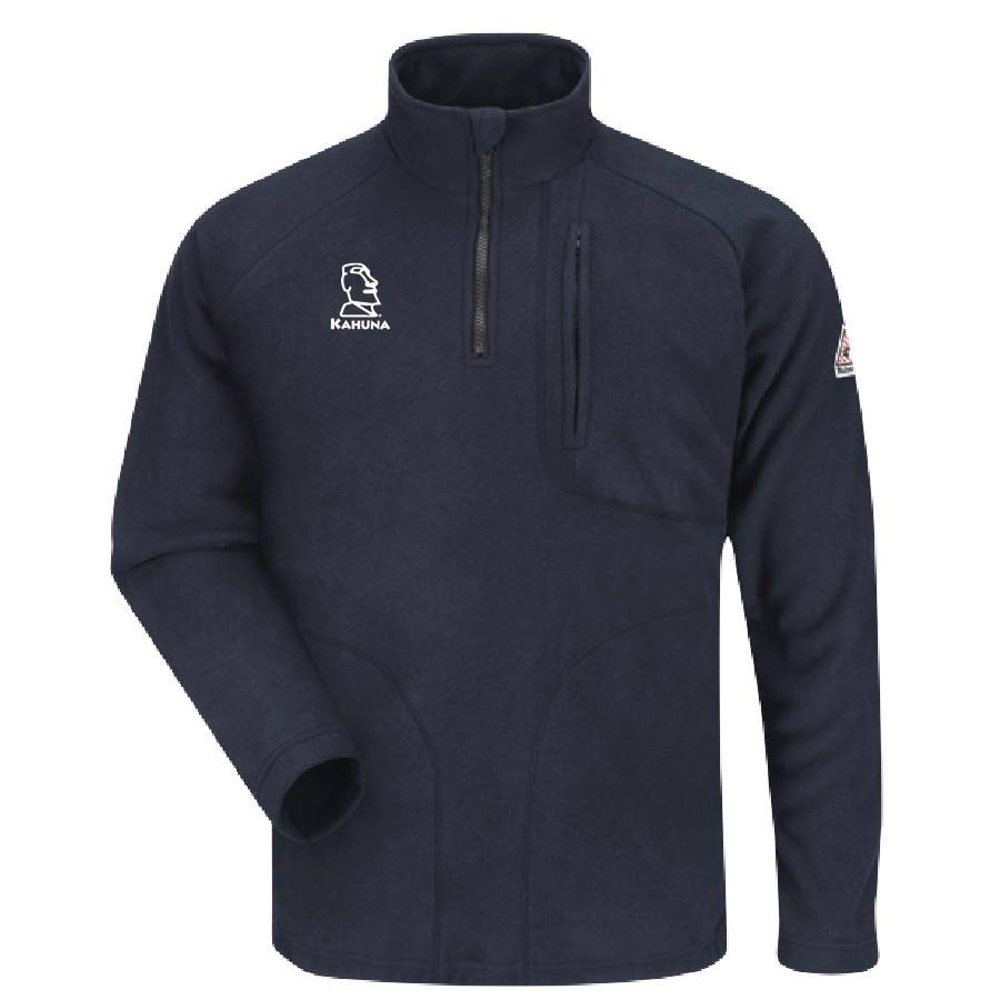 Bulwark Bulwark Quarter Zip Fleece Sweatshirt (Navy)