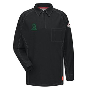 Bulwark Bulwark iQ Series® Long Sleeve Polo (Black)
