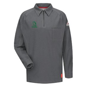 Bulwark Bulwark iQ Series® Long Sleeve Polo (Charcoal)