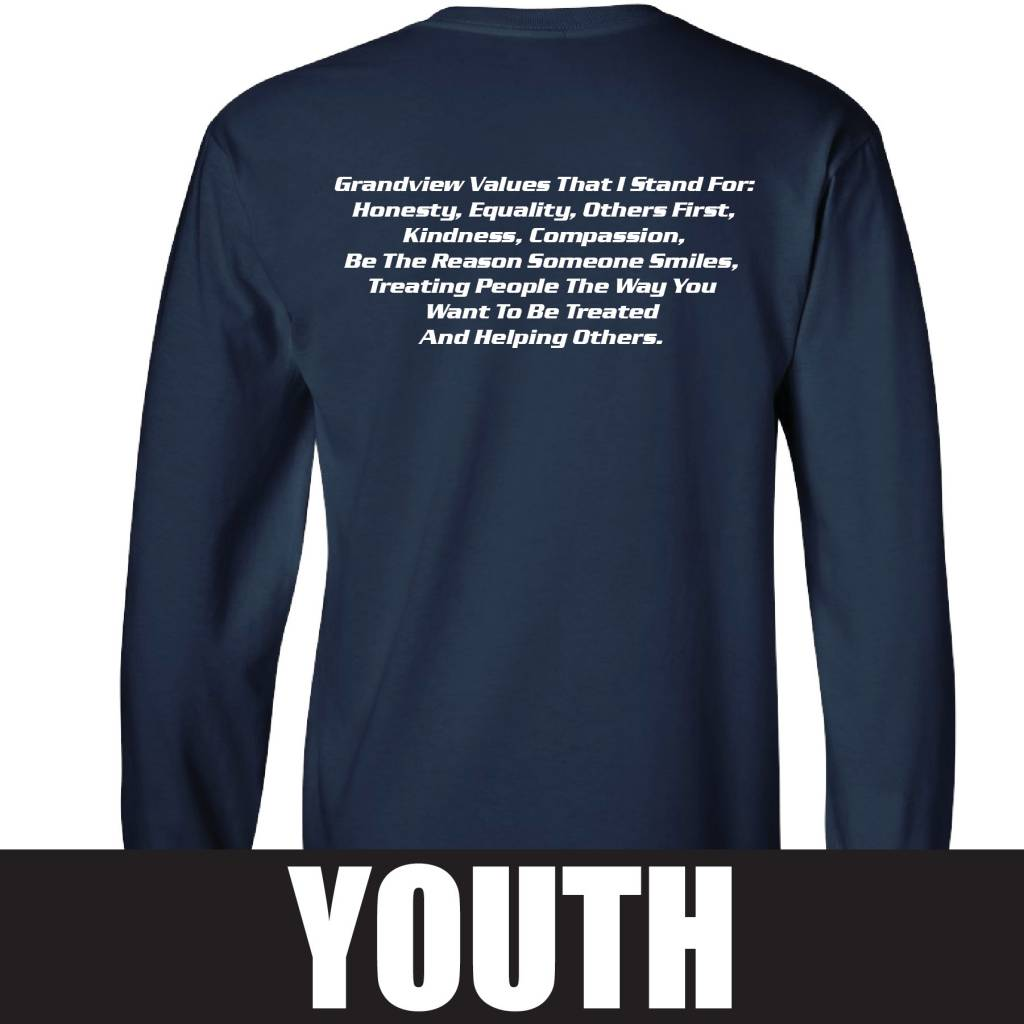 Gildan Gildan Ultra Cotton Youth Longsleeve T-shirt (Navy)