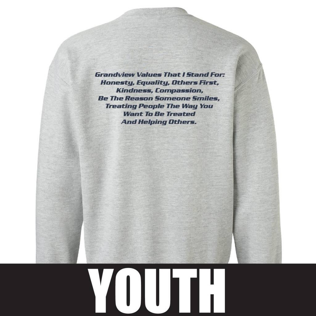 Gildan Gildan Heavy Blend Youth Fleece Crew (Sport Grey)