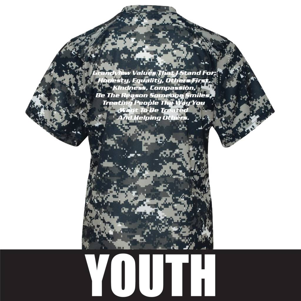 S&S Activewear S&S Badger Camo Youth Short Sleeve T-Shirt