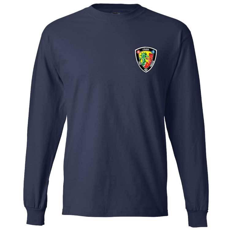 Hanes Hanes® Beefy-T® - 100% Cotton Long Sleeve T-Shirt (Navy)
