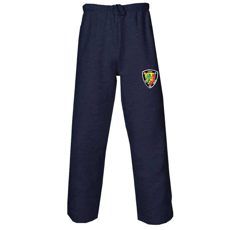 Badger Open Bottom Fleece Pant (Navy)