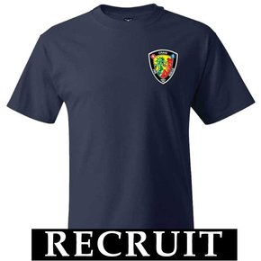 Hanes Hanes® Beefy-T® - 100% Cotton T-Shirt (Navy) Recruit