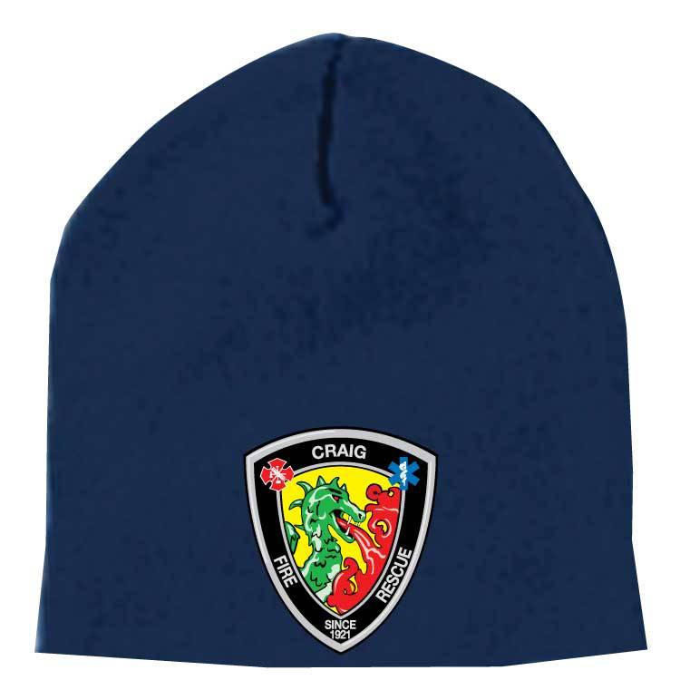 Yupoong Knit Beanie Cap  ( Navy )
