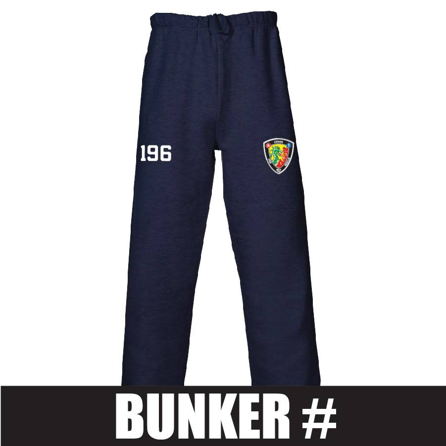 Badger Open Bottom Fleece Pant (Navy) Bunker Number