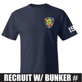 Hanes Hanes® Beefy-T® - 100% Cotton T-Shirt (Navy) Recruit Bunker Number