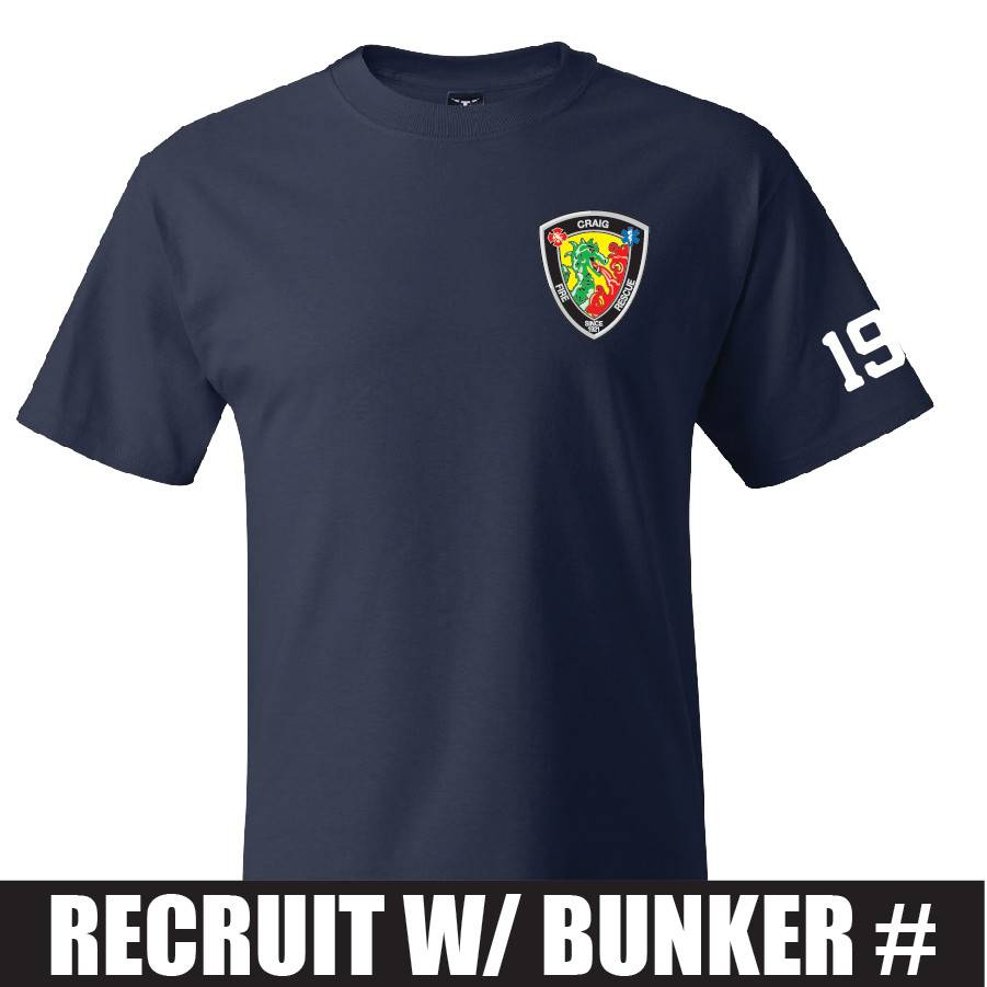 Hanes Hanes® Beefy-T® - 100% Cotton T-Shirt (Navy) Recruit Bunker Number
