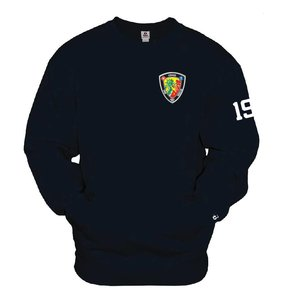 Badger Pocket Crew Sweatshirt (Navy) Bunker Number