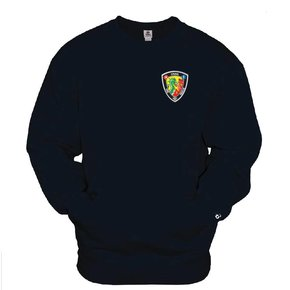 Badger Pocket Crew Sweatshirt (Navy)