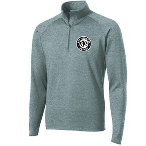 Sport Tek Sport-Tek® Sport-Wick® Stretch 1/2-Zip Pullover ( Charcoal Grey Heather )