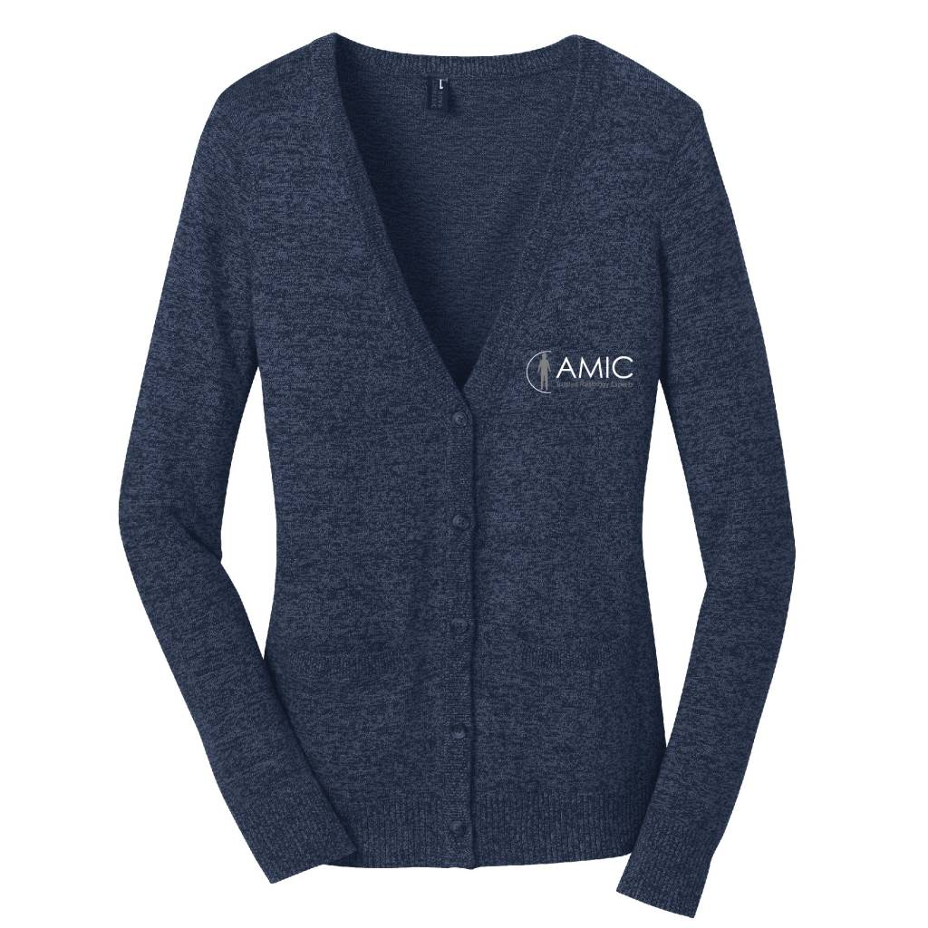 District Made District Made Ladies Cardigan Sweater (Navy)