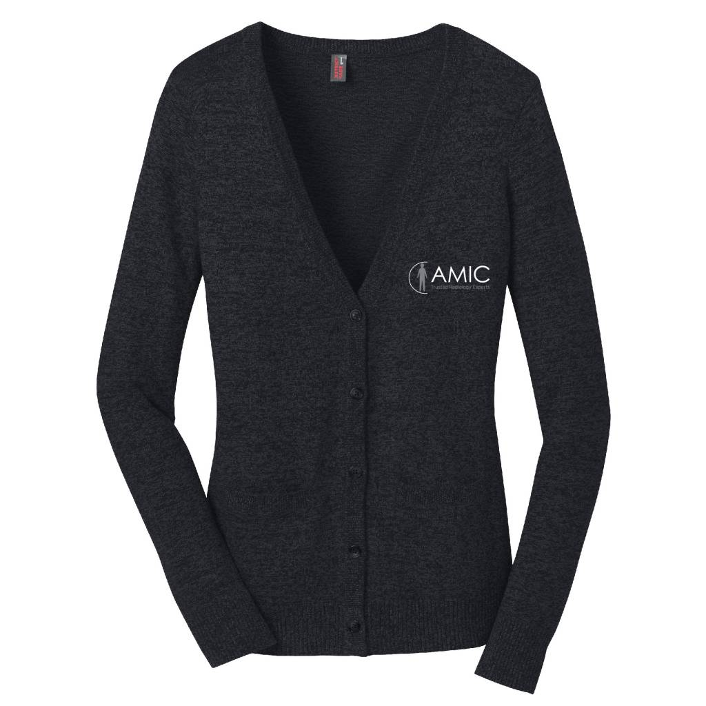 District Made District Made Ladies Cardigan Sweater (Black)