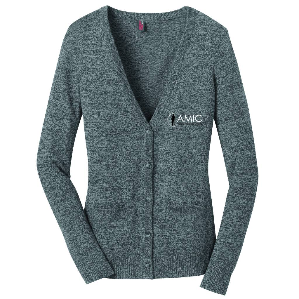 District Made District Made Ladies Cardigan Sweater (Warm Grey)